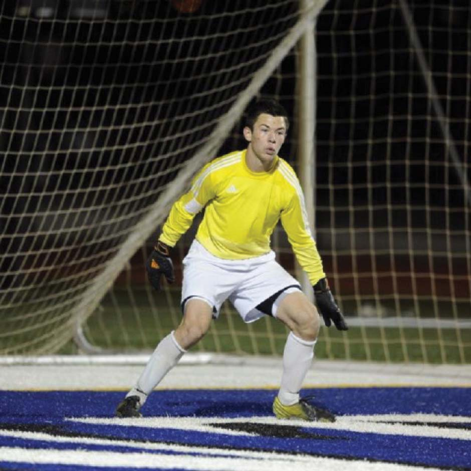 Pro soccer player chasing goals at OCCC