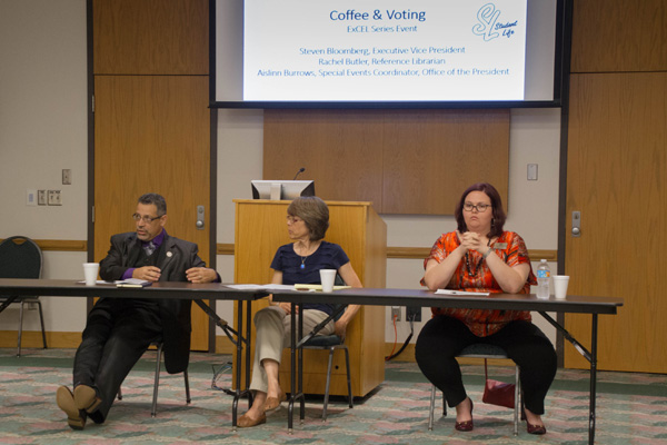 Coffee and Voting: Panel expresses importance of getting involved
