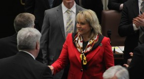 Governor Mary Fallin from a 2017 file photograph.