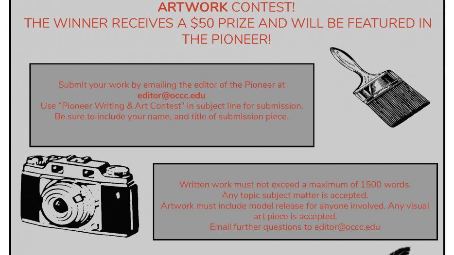 Enter The Pioneer's Art & Writing Contest!